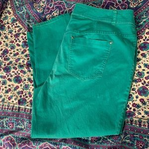 Green Lane Bryant skinny jeans